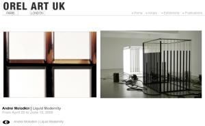 Home page du site de la galerie OREL ART UK