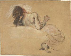 760px-Eugène_Delacroix_-_Crouching_Woman